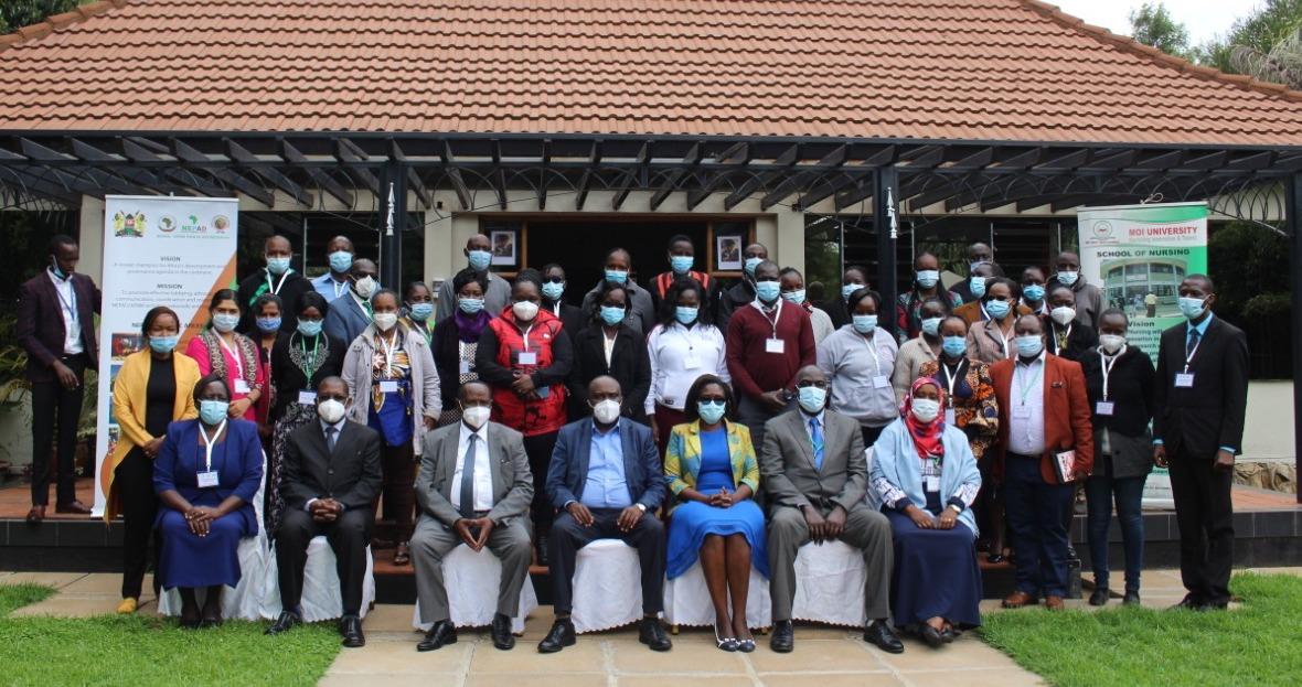 Midwives and doctors attending the Moi University Kenya training on ICI